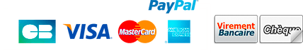 Paiement Sécurisé par PayPal, Chèque et virement acceptés